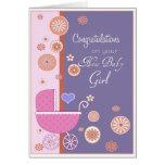 Enhorabuena en su nueva niña tarjetas