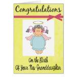 Enhorabuena en su nueva tarjeta de la nieta
