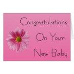 Enhorabuena en su nueva tarjeta del bebé