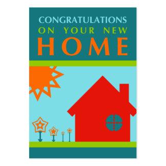 enhorabuena en su nuevo hogar (formas de la MOD) Tarjetas De Visita Grandes