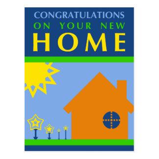 enhorabuena en su nuevo hogar: formas del postal