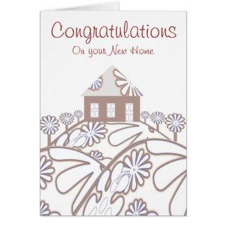 Enhorabuena en su nuevo hogar tarjeta de felicitación