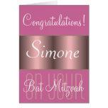 Enhorabuena en su palo Mitzvah Felicitacion