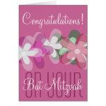 Enhorabuena en su palo Mitzvah floral Felicitacion