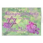 ¡Enhorabuena en su palo Mitzvah! Tarjeton