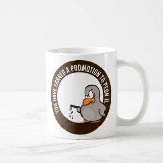 Enhorabuena en su promoción bien ganada taza de café