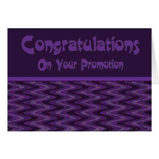 Enhorabuena en su promoción felicitación