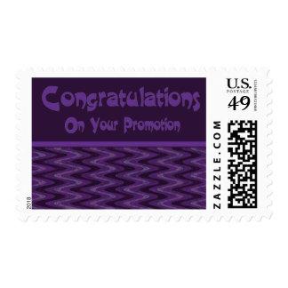 Enhorabuena en su promoción sello