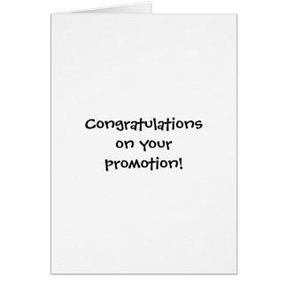 ¡Enhorabuena en su promoción! Tarjeta De Felicitación