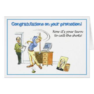Enhorabuena en su promoción tarjeta de felicitación