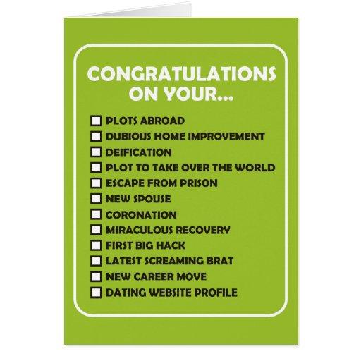 Enhorabuena en su… tarjeta de felicitación