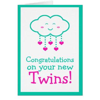 Enhorabuena en su tarjeta de felicitación de los g