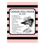 Enhorabuena en su… tarjeta postal
