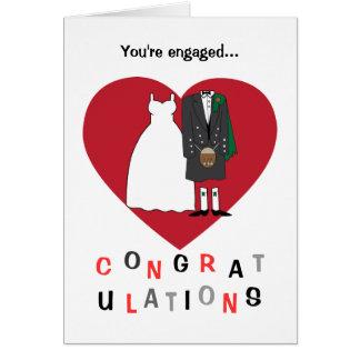 Enhorabuena en sus pares del escocés del tarjeta de felicitación