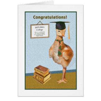 Enhorabuena en tarjeta de la graduación de la univ