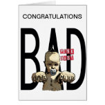 ¡Enhorabuena es un chico malo! Tarjetón
