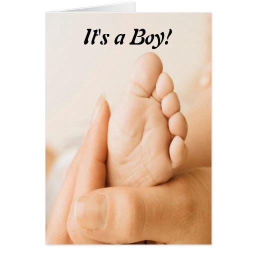 ¡enhorabuena es un muchacho! Tarjeta