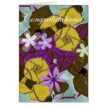 Enhorabuena floral del vintage felicitaciones