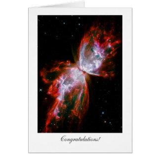 Enhorabuena - general - estrella de la nebulosa de tarjeta de felicitación