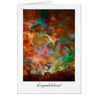 Enhorabuena - general, estrellas de la nebulosa de tarjeta de felicitación
