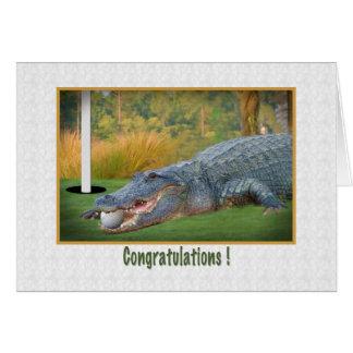 Enhorabuena, golf, Agujero-En-Uno Tarjeta De Felicitación