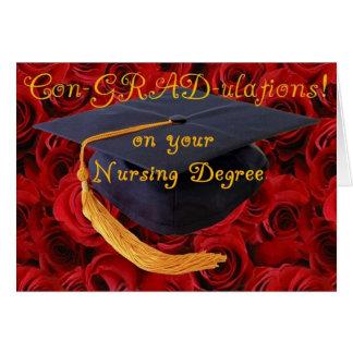 Enhorabuena/grado de oficio de enfermera de BScN- Tarjeta De Felicitación
