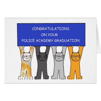 Enhorabuena graduada de la academia de policía tarjeta de felicitación