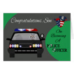Enhorabuena, hijo, tarjeta de felicitación del ofi