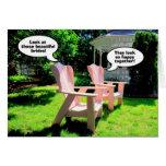 Enhorabuena lesbiana del boda, sillas rosadas tarjetón