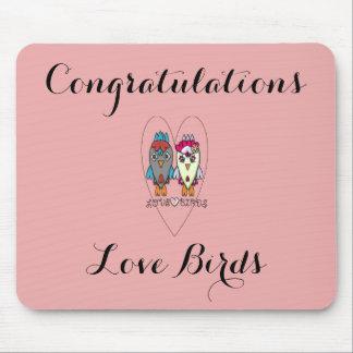 Enhorabuena LoveBirds1 Alfombrilla De Ratones