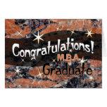 Enhorabuena M.B.A. Graduate Orange y negro Felicitacion