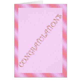 Enhorabuena merecida rosada de la enhorabuena felicitacion