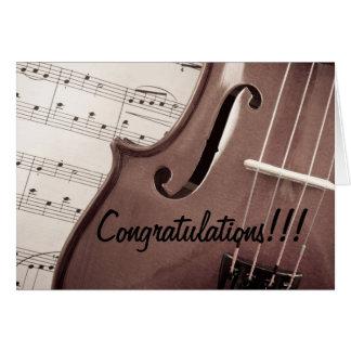 Enhorabuena musical tarjeta