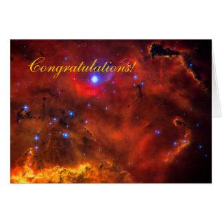 Enhorabuena - nebulosa de la emisión en Puppis Tarjeta De Felicitación