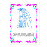 Enhorabuena - novia postal