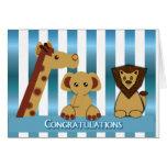 Enhorabuena, nuevo bebé tarjeta de felicitación