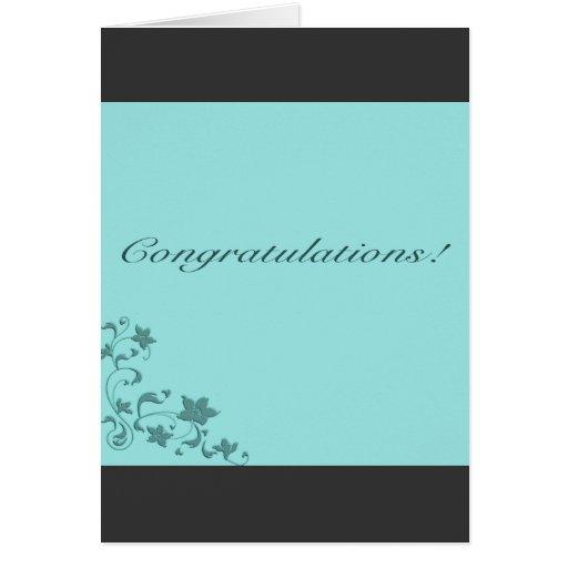 Enhorabuena ornamental azul felicitaciones