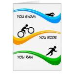 ¡Enhorabuena para acabar un Triathlon! Felicitaciones