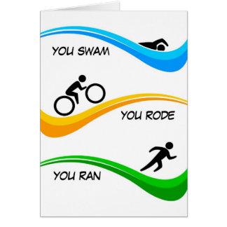 ¡Enhorabuena para acabar un Triathlon! Tarjeta De Felicitación