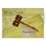 Enhorabuena para el abogado, el juez, o el abogado tarjetas