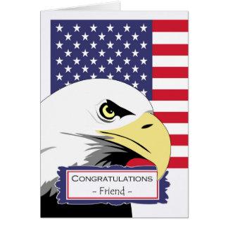Enhorabuena para el amigo, formación básica, Eagle Tarjeta De Felicitación