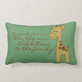 Enhorabuena para la almohada recién nacida