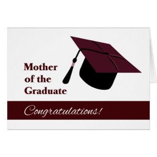 Enhorabuena para la madre del graduado tarjeta de felicitación