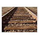 Enhorabuena para permanecer en pista de ferrocarri tarjetas