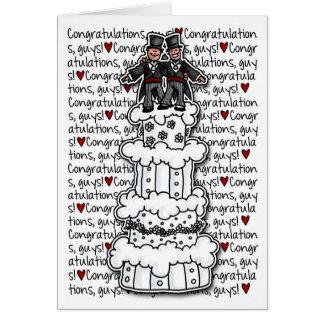 Enhorabuena - pares gay del boda tarjetón