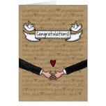 Enhorabuena - pares gay del boda tarjeta de felicitación