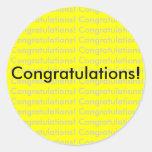 ¡Enhorabuena! pegatina