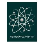 ¡Enhorabuena! Postal de los saludos del átomo (007