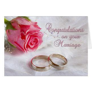 Enhorabuena que casa boda tarjeta