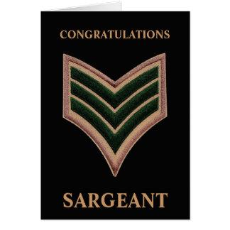 Enhorabuena Sargeant Tarjeta De Felicitación